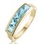 Sky Blue Topaz 0.90CT 9K Gold Ring - image 1