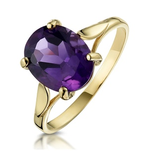 Amethyst 2.25ct 9K Gold Ring