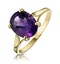 Amethyst 2.25ct 9K Gold Ring - image 1