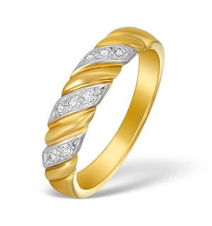 9K Gold Diamond Pave Design Ring - A3885