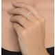Diamond 0.11ct 9K White Gold Wishbone Ring - image 2