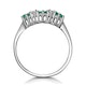 Emerald 0.45ct And Diamond 9K White Gold Ring - image 2