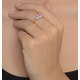 Pink Sapphire and 0.12ct Diamond Ring 9K Yellow Gold - image 4