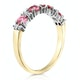Pink Sapphire and 0.15ct Diamond Ring 9K Yellow Gold - image 3