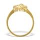 9K Gold Diamond Set Teddy Bear Ring - A4264 - image 2