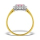 9K Gold Diamond and Pink Sapphire Ring 0.14ct - image 2