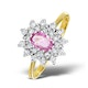 9K Gold Diamond and Pink Sapphire Ring 0.36ct - image 1
