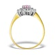 9K Gold Diamond and Pink Sapphire Ring 0.36ct - image 2