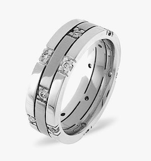 Amy Platinum Diamond Wedding Ring 0.37CT H/SI