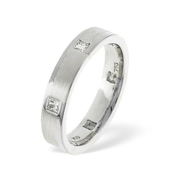 Lauren  0.28CT H/SI Diamond and White Gold Wedding Ring - image 1