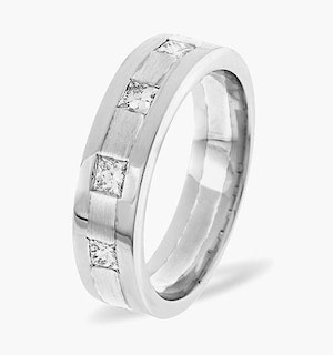 Mens 0.35ct H/Si Diamond Platinum Dress Ring