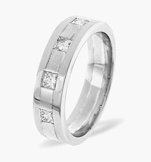 Mens 0.35ct G/Vs Diamond Platinum Dress Ring