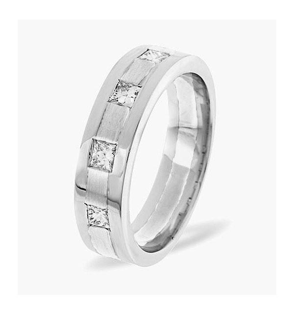Lauren  0.35CT H/SI Diamond and White Gold Wedding Ring - image 1