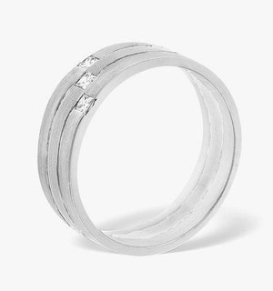 Lauren 3 Stone Platinum Diamond Wedding Ring 0.07CT H/SI