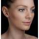 Diamond Earrings 0.25ct Studs in 9K White Gold - B3460Y - image 3