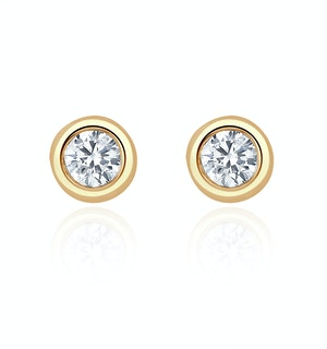 Stud Earrings 0.20CT Diamond 9K Yellow Gold