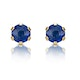 Sapphire 3mm 9K Yellow Gold Earrings - image 1