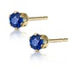 Sapphire 3mm 9K Yellow Gold Earrings - image 2