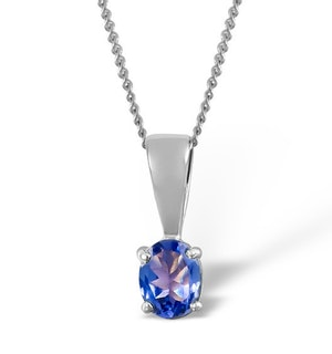 Tanzanite 5 x 4mm 9K White Gold Pendant