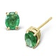 Emerald 0.30CT 9K Yellow Gold Earrings - image 1