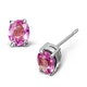 Pink Sapphire 0.45ct 9K White Gold Earrings - image 1