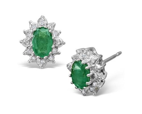 Emerald Cluster Earrings