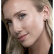 Sapphire 7mm x 5mm And Diamond 9K Yellow Gold Earrings  B3692 - image 2