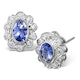 Tanzanite 6 x 4mm And Diamond 18K White Gold Earrings  FEG28-VY - image 1