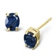 Sapphire 5mm x 4mm 9K Yellow Gold Earrings - image 1