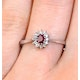 Ruby 4 x 3mm And Diamond 9K White Gold Ring - image 3