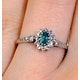 Emerald 5 x 3mm And Diamond 9K White Gold Ring - image 4