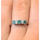 Emerald 0.45ct And Diamond 9K White Gold Ring - image 4