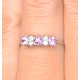 Pink Sapphire and 0.06ct Diamond Ring 9K White Gold - image 4