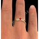 Ruby 3.75mm And Diamond 9K Gold Ring - image 4
