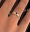 Kanchan Sapphire 3.75mm And Diamond 9K Gold Ring - image 4