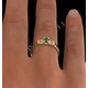 Emerald 3.75mm And Diamond 9K Gold Ring - image 4
