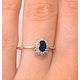 Sapphire 6 x 4mm And Diamond 9K Gold Ring - image 4