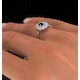 Sapphire 6 x 4mm And Diamond 9K Gold Ring  A3245 - image 4