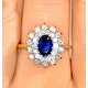 Sapphire 7 x 5mm And Diamond 9K Gold Ring  A3246 - image 3