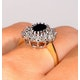 Sapphire 7 x 5mm And Diamond 9K Gold Ring  A3246 - image 4