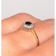 Sapphire 3 x 3mm And Diamond 9K Gold Ring - image 4