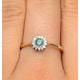 Emerald 3.5mm And Diamond 9K Gold Ring - image 3