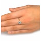 Emerald 3.5mm And Diamond 9K Gold Ring - image 4