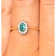 Emerald 5 x 3mm And Diamond 9K Gold Ring - image 4