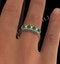 Emerald 0.94ct And Diamond 9K Gold Ring - image 4