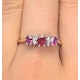 Ruby 0.85ct And Diamond 9K Gold Ring - image 3