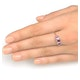 Ruby 0.85ct And Diamond 9K Gold Ring - image 4