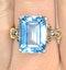 Blue Topaz 9.35CT 9K Yellow Gold Ring - image 2