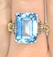 Blue Topaz 9.35CT 9K Yellow Gold Ring - image 2