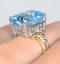 Blue Topaz 9.35CT 9K Yellow Gold Ring - image 4